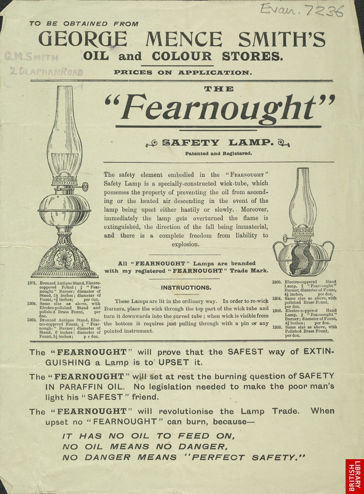 Advert For George Mence Smith's Safety Lamp